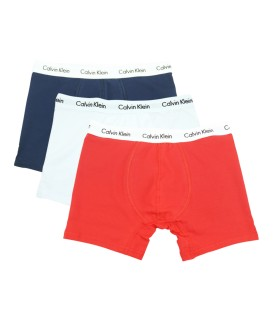 Calvin Klein Boxer Trunks (3 Pack) white&red&navy