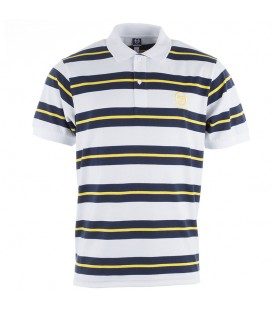 Sergio Tacchini Ealing Stripe Polo Optic White Dress Blue