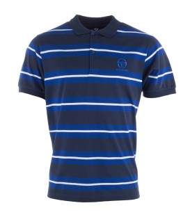 Sergio Tacchini Ealing Stripe Polo Dress Blue Surf the Web
