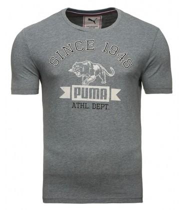 Puma STYLE ATHL TEE MEDIUM GRAY HEATHER