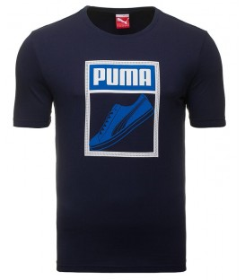 Puma TONGUE LABEL TEE PEACOAT 83242406