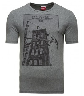 Puma SNEAKER TAG TEE MEDIUM GRAY 83242103