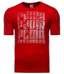 Puma HIDING CAT TEE RED 83243105